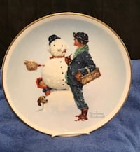 Norman Rockwell Gorham China plates. Four Seasons. Never used.