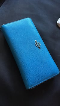 Leather Coach wallet light blue Chevy Chase, 20814