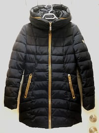 XS / Woman's Navy blue coat with gold accents