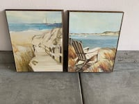 2 beach pictures for wall, ready to hang Tustin, 92606