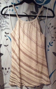 Women's brown halter top, Size Small