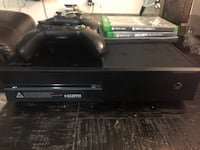 black Xbox One console with controller and game cases Morningside, 20746