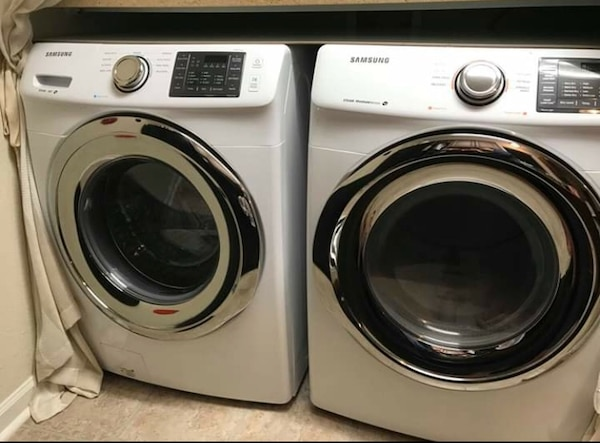 Samsung Full size Electric Washer Dryer $1200 (pick up only) - Barely Used   By Seller RIG