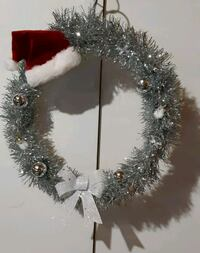 white and brown wreath with text overlay Innisfil, L9S 4X9