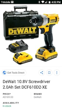 DeWalt cordless hand drill with charger screenshot Lubbock, 79413