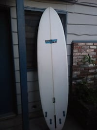 white South Coast surf board