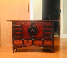 Korean wooden table console cabinet