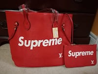 Beautiful Red LV Supreme Tote Bag Mississauga, L4Z 3M4