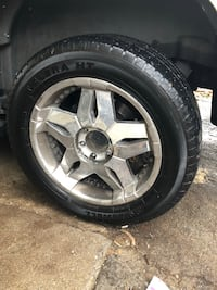 Gray 5-spoke vehicle wheel and tire Knoxville, 37914