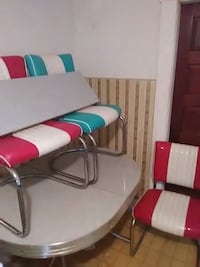 50s style kitchen table and 3 chairs