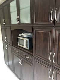 brown wooden cabinet with shelf Markham, L6E 1Y6