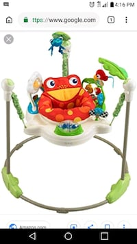 baby's white and green Fisher-Price jumperoo Ohatchee, 36271