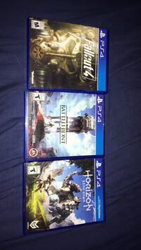 three assorted PS4 game cases Winnipeg, R3M 0Z8