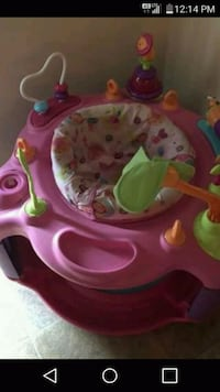 baby's pink and green activity saucer Twentynine Palms, 92277