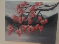 Japanese Cherry Blossom Painted Canvas 1 OF 1 Edmonton