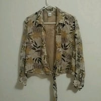 Pure silk lined wrap top, size L Gainesville, 32609