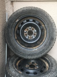 black bullet hole car wheel with tire set St Catharines, L2R 6K7