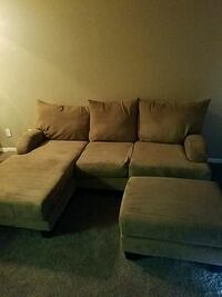 brown suede sectional couch with ottoman Chandler, 85225