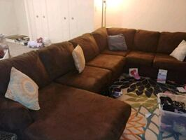 3 Piece sectional with pillows