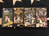 4 VHS NY Yankees videos Paterson, 07505