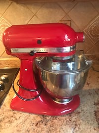 red and silver KitchenAid stand mixer Bowie, 20720