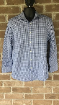 Joseph Abboud Button Up Shirt Blue And White Slim Fit 32-33