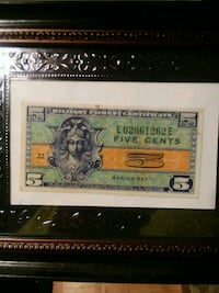5 cent military currency  Bristol, 24201