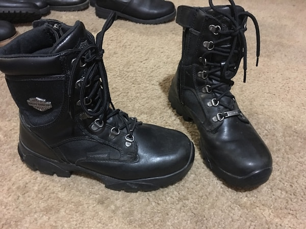 0a333e57bf3b Harley-Davidson® Women s Hennie Waterproof Black Leather Motorcycle Boots  D85222 in EUC size 8.5