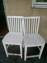 two white wooden windsor chairs Baltimore, 21218
