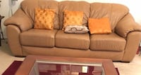 Leather Sofa - camel beige brown  Ashburn, 20147