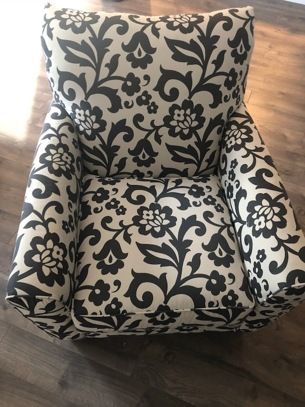 White Accent Chairs Used.Grey And White Print Accent Chair
