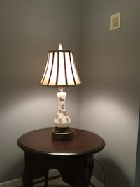 Vintage Table Lamp With Gold Leaf Pattern Forest Hill, 21050