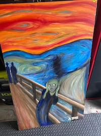 """The Scream"" painting (hand painted rendition) 30"" X 48"" Woodbridge, 22193"