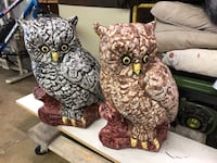 PAIR OUTDOOR CONCRETE OWLS Pelham, 35124
