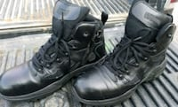 pair of black leather work boots St. Louis, 63104