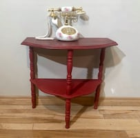 Refinished Red Accent Table-phone not for sale