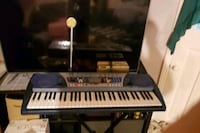Electric Keyboard with Mic and Stand