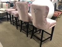 Set of 4 blush pink counter bar stools  Alexandria, 22312