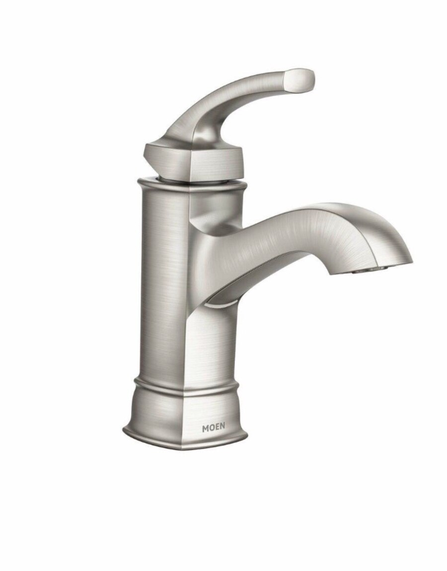 Used Moen WS84414MSRN Hensley Single Handle 1 Hole Bathroom Faucet ...