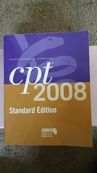CPT 2008 Standard Ed medical terminology book