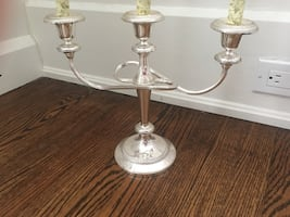 Candlebra silver plated