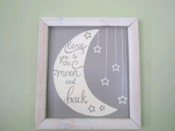 Hand painted sign with rustic frame