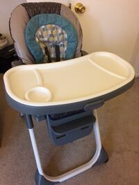 baby's white and blue highchair Germantown, 20874