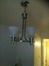 silver and white uplight chandelier Baltimore, 21239