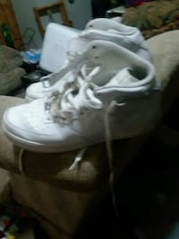 pair of white Nike high-top sneakers Frederick, 21703