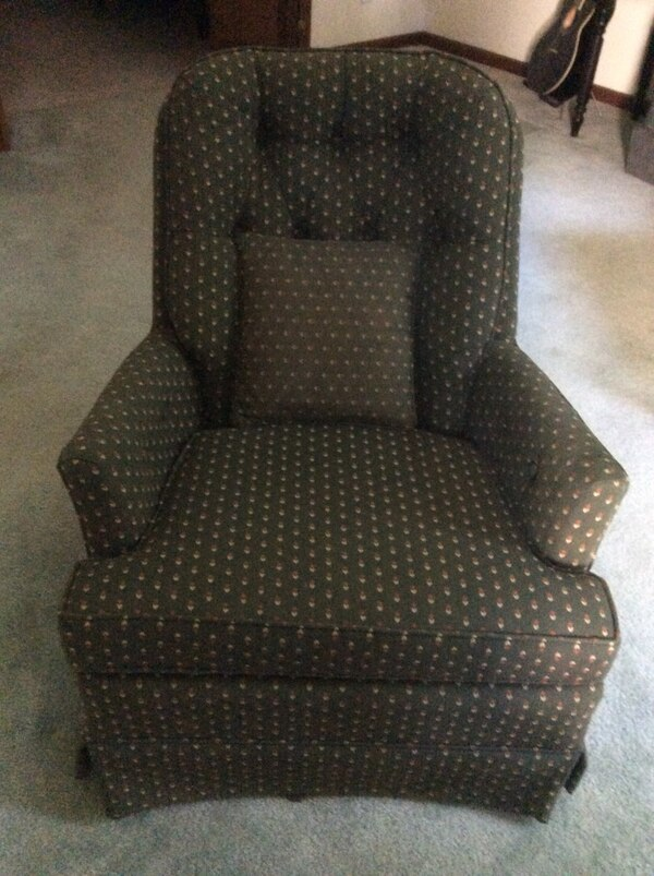 Excellent Used Upholstered Cushioned Rocking Swivel Chair For Sale In Short Links Chair Design For Home Short Linksinfo