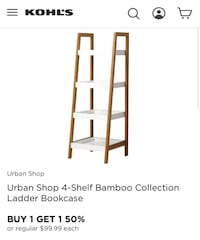 Bamboo collection 4 shelf bookcase dimensions in pics