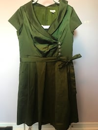 Olive Green Laura Dress - Size 14 Toronto