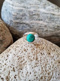 HANDMADE 925 STERLING SILVER NATURAL TURQUOISE RING  -  SIZE 5.5 Burlington, L7L 7J4