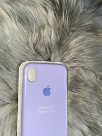 lilac iphone XR silicone case